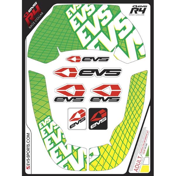EVS グラフィックキット R4 ネックサポート用 リラン/グリーン ADULT