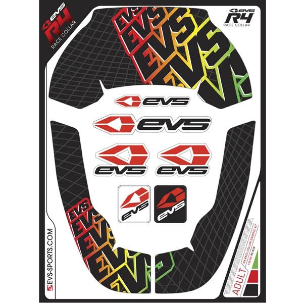 EVS グラフィックキット R4 ネックサポート用 リラン/ラスタ ADULT