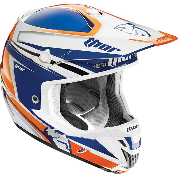 THOR 【アウトレット】個別配送のみ 2015年モデル VERGE(ヴァージ)ヘルメット FLEX ネイビー/オレンジ SG規格適合モデル