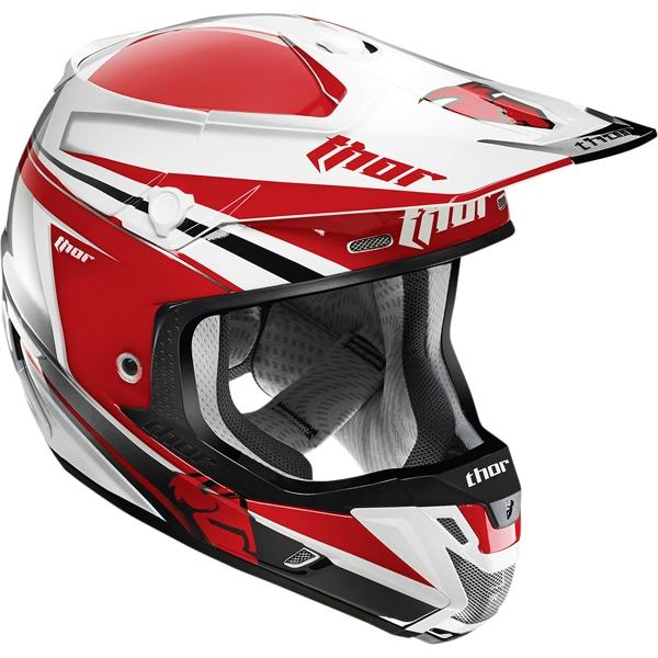 THOR 【Web会員限定】2015年モデル VERGE【ヴァージ】ヘルメット FLEX レッド/シルバー SG規格適合モデル