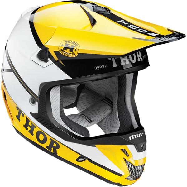 THOR 【Web会員限定】2015年モデル VERGE【ヴァージ】ヘルメット PRO GP イエロー/ブラック SG規格適合モデル