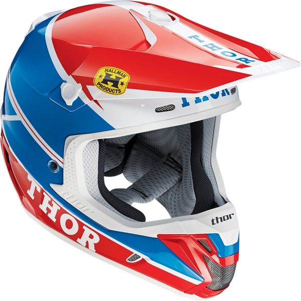 THOR 【Web会員限定】2015年モデル VERGE【ヴァージ】ヘルメット PRO GP ブルー/レッド SG規格適合モデル