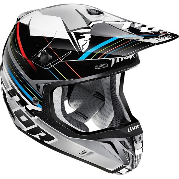 THOR 2015年モデル VERGE(ヴァージ)ヘルメット STACK ブラック/シルバー SG規格適合モデル