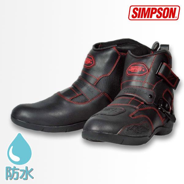 SIMPSON 【WEB限定】SPB-091 フェイクレザーショートブーツ 防水
