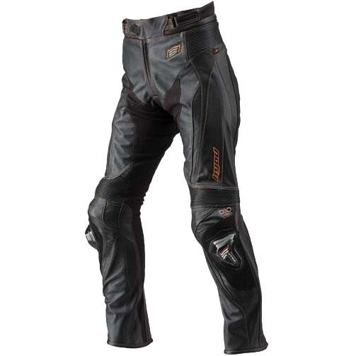HYOD PRODUCTS ST-X D3O LEATHER PANTS(BOOTS-OUT) BLACK/ORANGE STITCH