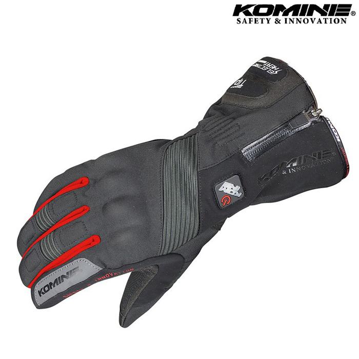 komine GK-804 エレクトリックヒートグローブ 『カシウス』 ブラック/レッド ◆全2色◆