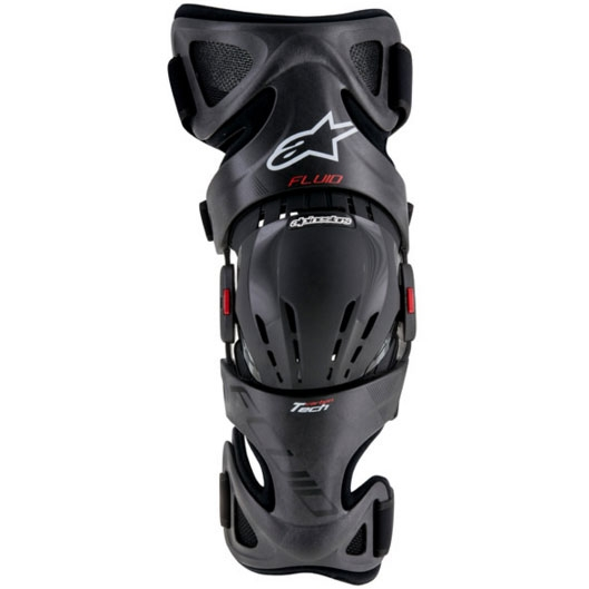 alpinestars FLUID TECH CARBON KNEE BRACE 左側