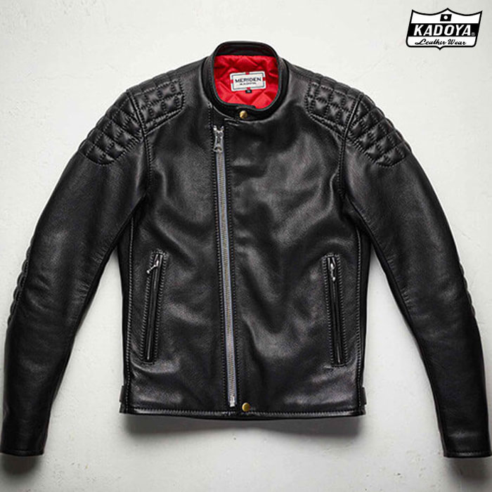KADOYA 【受注生産】818 SPEED TWIN MODEL-0 レザージャケットブラック ◆全2色◆
