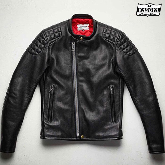 KADOYA 【受注生産】 (大きいサイズ)818 SPEED TWIN MODEL-0 レザージャケットブラック ◆全2色◆