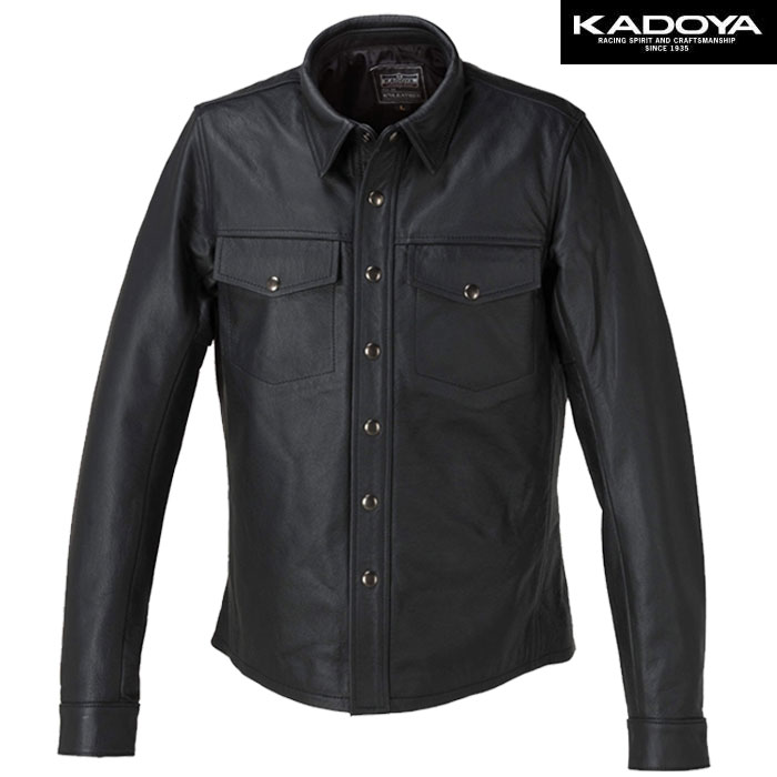 KADOYA 〔WEB価格〕【大きいサイズ】 L-SHIRT レザーシャツ