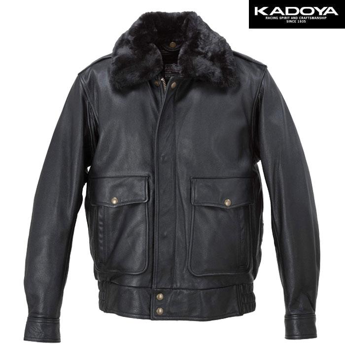 KADOYA 【大きいサイズ】 BBJ-2 レザージャケット 防寒 防風