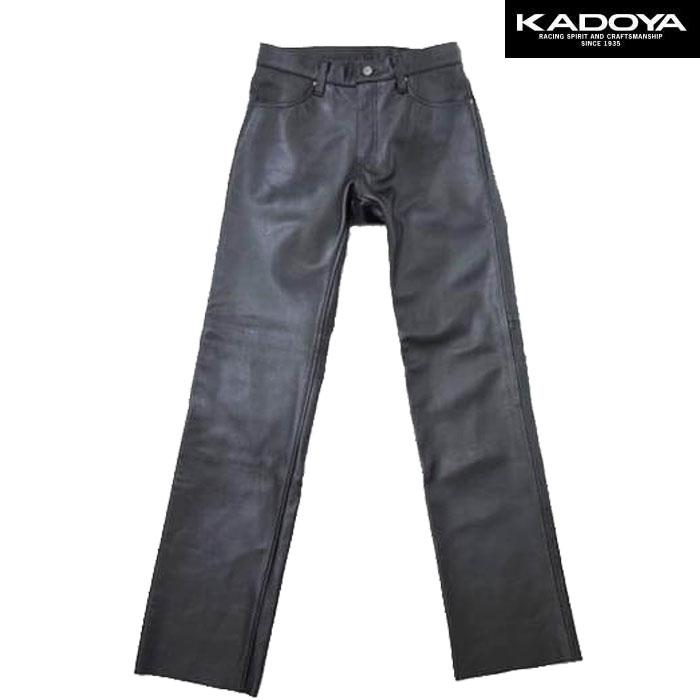 KADOYA 〔WEB価格〕STS-PANTS ストレートレザーパンツ
