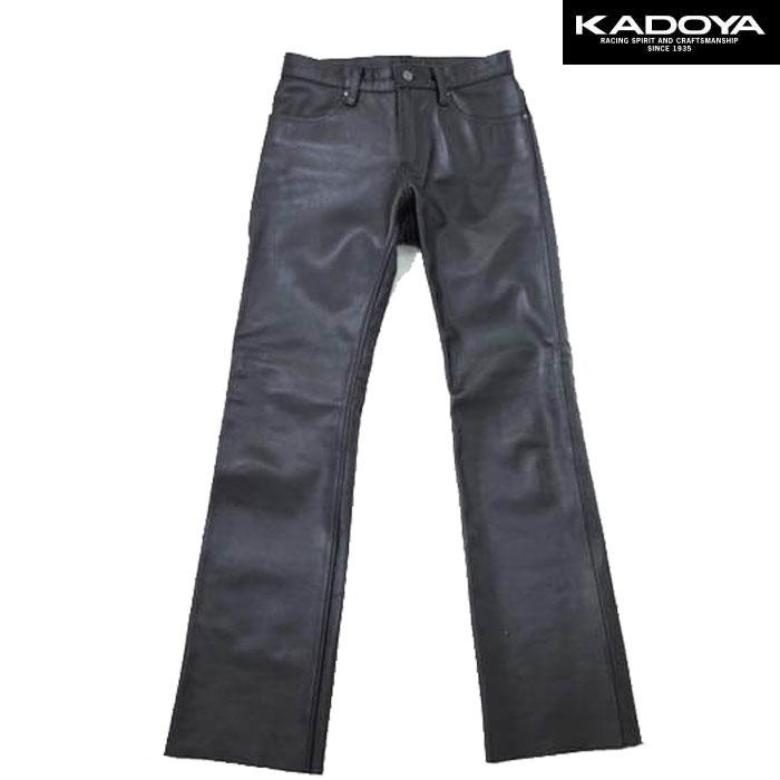 KADOYA 〔WEB価格〕BCS-PANTS ブーツカットレザーパンツ