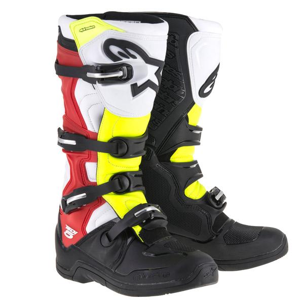 alpinestars 〔WEB価格〕TECH 5 ブーツ ブラック/ホワイト/レッド/イエロー ◆全5色◆