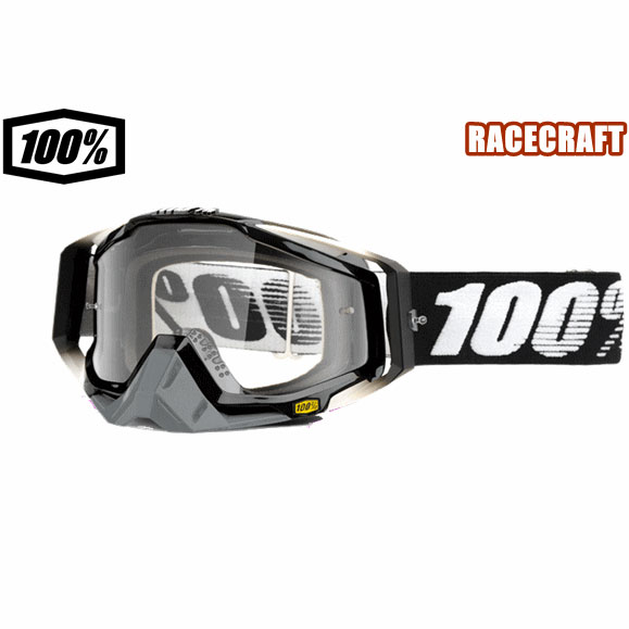 100% 18モデル ゴーグル RACECRAFT【レースクラフト】 ABYSS BK