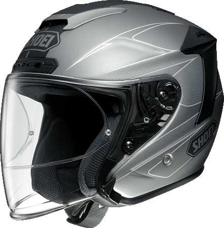 SHOEI ヘルメット (個別配送のみ 他商品との同梱配送不可)J-FORCE IV MODERNO 【ジェイ-フォース フォー モデルノ】 ジェットヘルメット TC-10 GREY/BLACK マットカラー