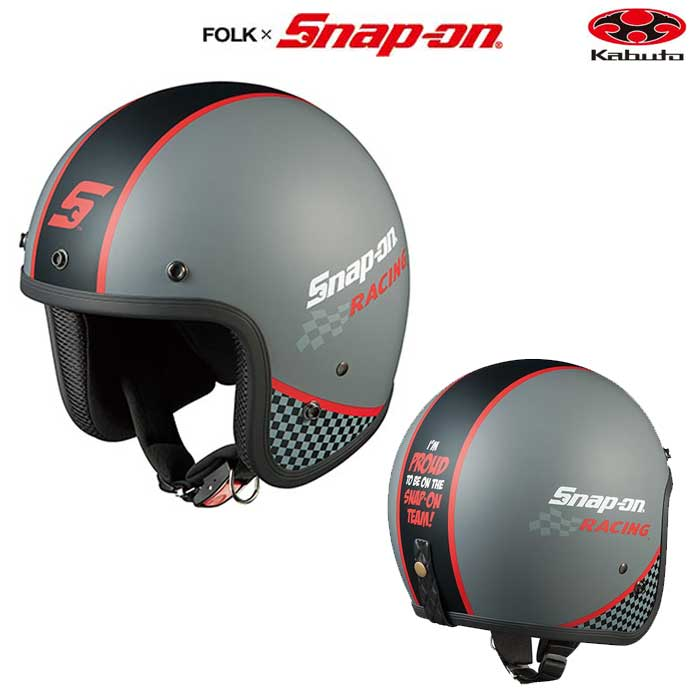 OGK kabuto FOLK Snap-on レーシング-1 ジェットヘルメット