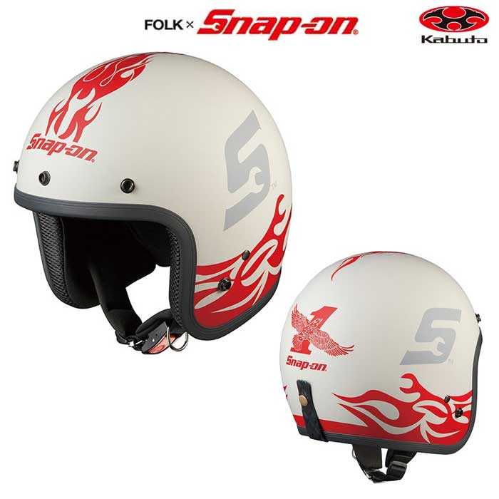 OGK kabuto 〔WEB価格〕FOLK Snap-on フレーム-3 ジェットヘルメット