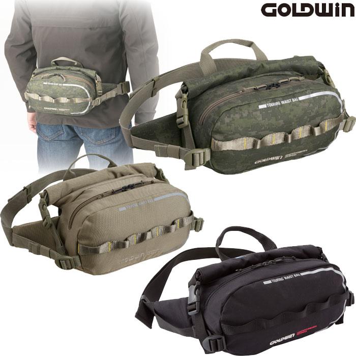 GOLDWIN GSM17618 ツーリングウエストバッグ3 防水ポケット付