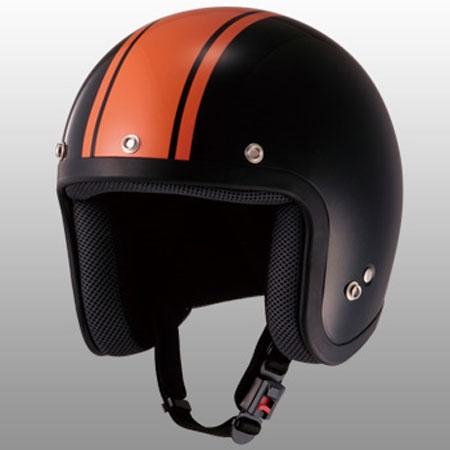 山城 ストライプジェットヘルメット