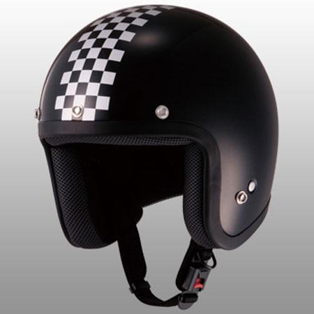山城 チェッカージェットヘルメット