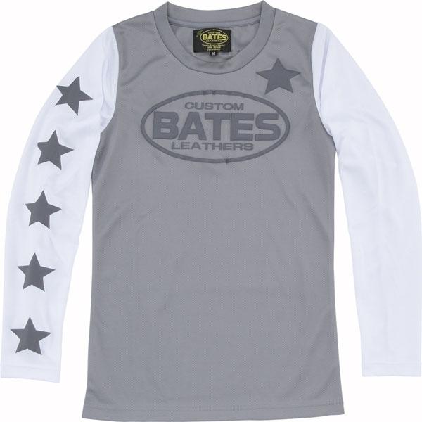 BATES 【春夏ウェアアウトレット】個別配送のみ レディース クールテックTシャツ ロングスリーブ グレー