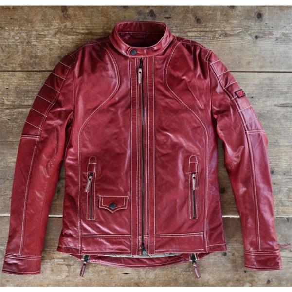 UNION JAP 〔WEB価格〕大きめサイズ 『Tormenta』 レザーシングルライダース Crimson RED