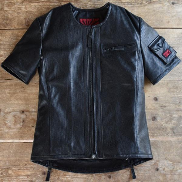 UNION JAP 大きめサイズ 『DEL SOL.3』 レザーTシャツ
