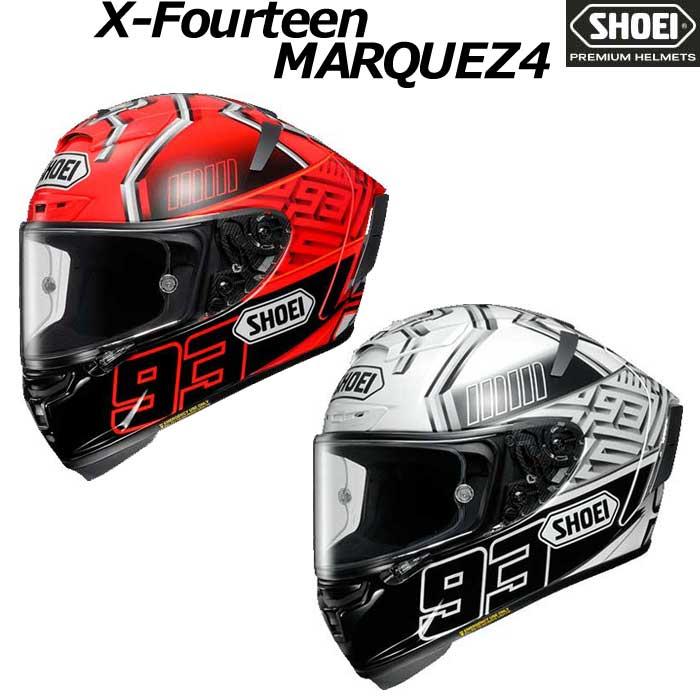 SHOEI ヘルメット X-Fourteen MARQUEZ4【エックス - フォーティーン マルケス4】 マルク・マルケス選手グラフィック仕様レプリカモデル フルフェイス ヘルメット