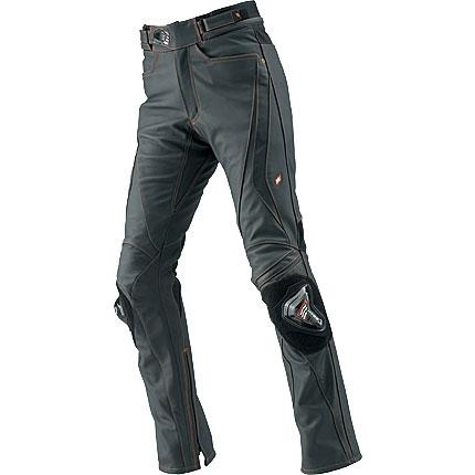 HYOD PRODUCTS ST-X D3O LEATHER PANTS(STRAIGHT) MATTE BLACK/ORANGE STITCH