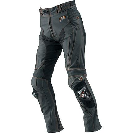 HYOD PRODUCTS ST-X D3O LEATHER PANTS(BOOTS-OUT) MATTE BLACK/ORANGE STITCH