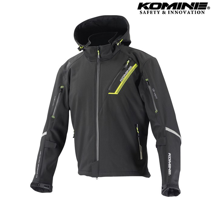 komine JK-579 プロテクトソフトシェルウィンターパーカ IFU 『イフ』 防寒 防風 着脱可能保温インナー付 ブラック ◆全11色◆