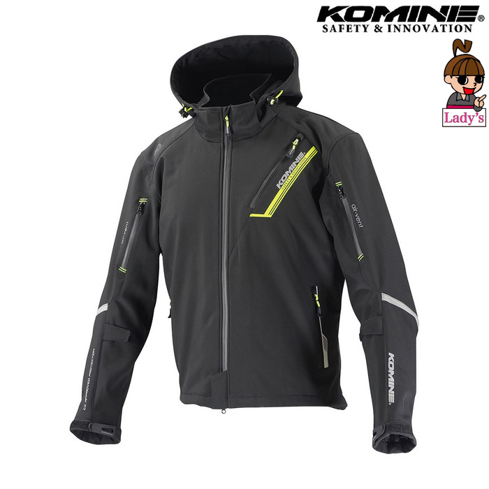 komine (レディース)JK-579 プロテクトソフトシェルウィンターパーカ IFU 『イフ』 防寒 防風 着脱可能保温インナー付 ブラック ◆全11色◆