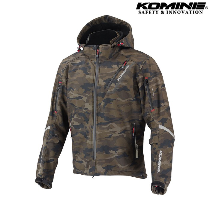 komine JK-579 プロテクトソフトシェルウィンターパーカ IFU 『イフ』 防寒 防風 着脱可能保温インナー付 カモフラージュ ◆全11色◆