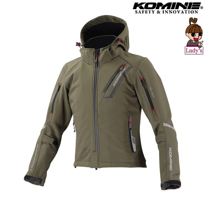 komine レディース JK-579 プロテクトソフトシェルウィンターパーカ IFU 『イフ』 防寒 防風 着脱可能保温インナー付 ディープオリーブ ◆全11色◆