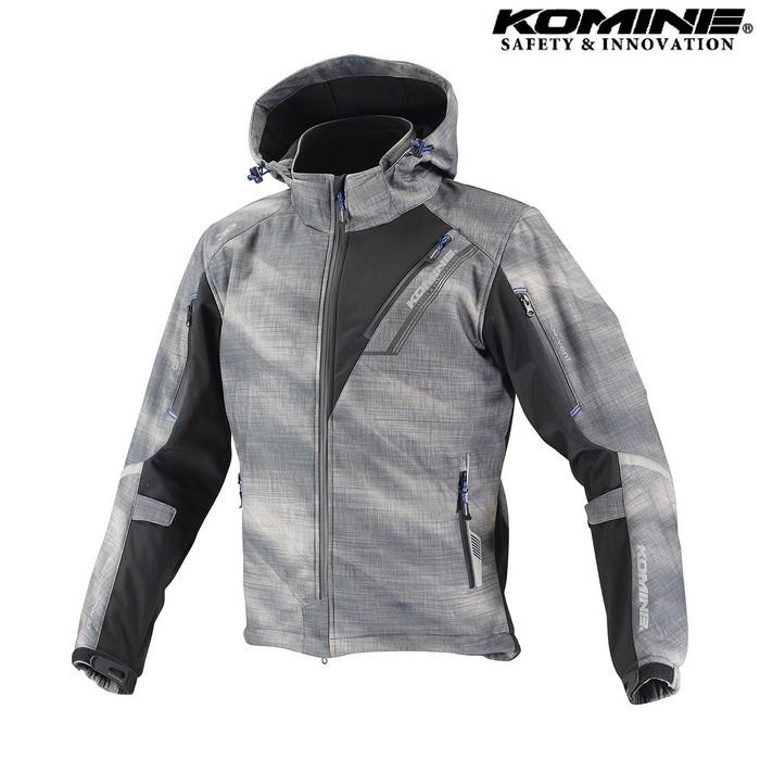 komine JK-579 プロテクトソフトシェルウィンターパーカ IFU 『イフ』 防寒 防風 着脱可能保温インナー付 スモーク ◆全11色◆