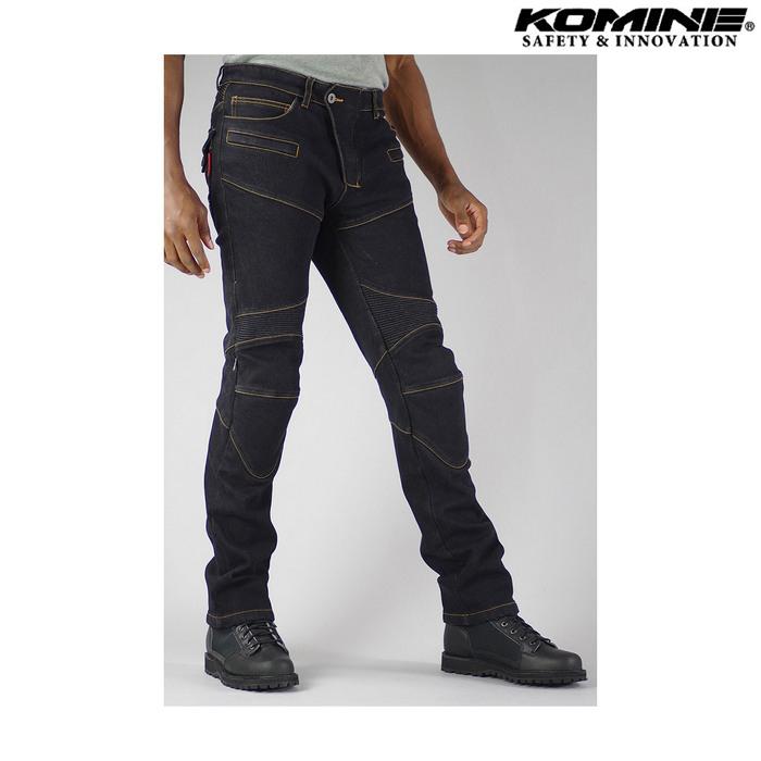 komine WJ-921S スーパーフィットウォームデニムジーンズ ブラック ◆全4色◆