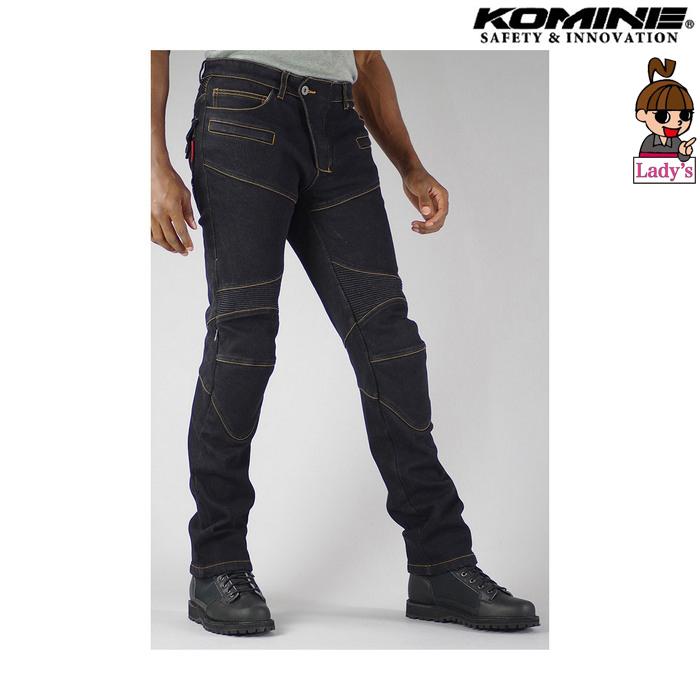 komine (レディース)WJ-921S スーパーフィットウォームデニムジーンズ ブラック ◆全4色◆