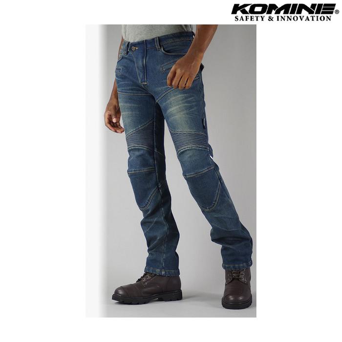 komine WJ-921S スーパーフィットウォームデニムジーンズ インディゴブルー ◆全4色◆