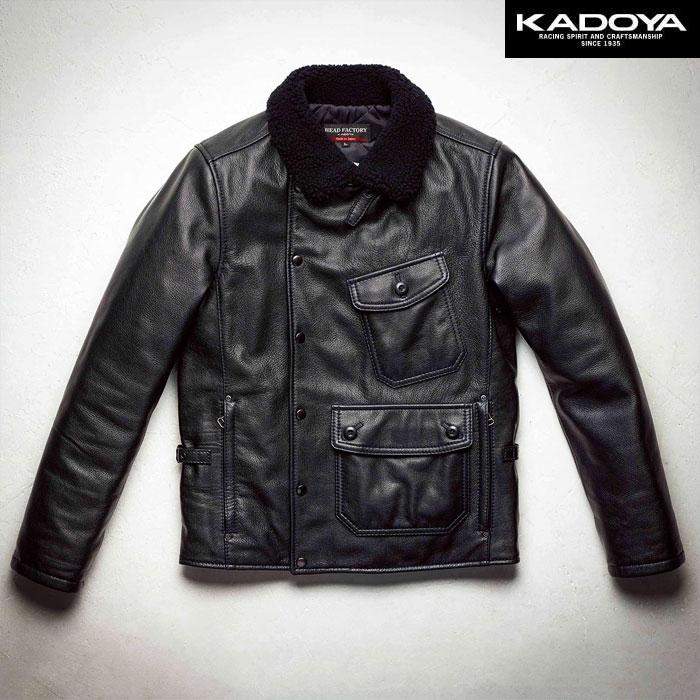 KADOYA 〔WEB価格〕【受注生産】 【大きいサイズ】 DE-MOD レザージャケット『ディーモッド』 防寒 防風