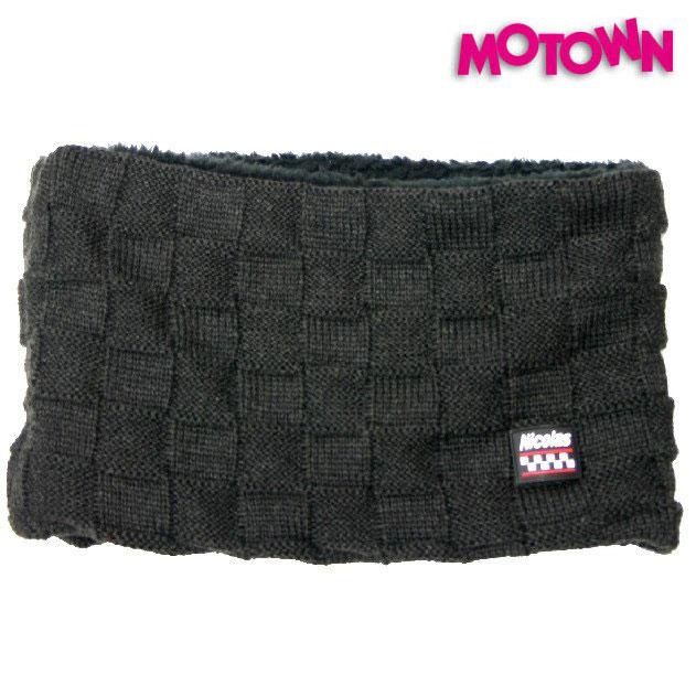 MOTOWN 〔WEB価格〕NNW05 ニット ボアネックウォーマー ブラックブロックパターン