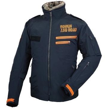 ROUGH&ROAD 〔WEB価格〕RR7683 フライトジャケット 防寒 防風 ブラック×オレンジ ◆全4色◆