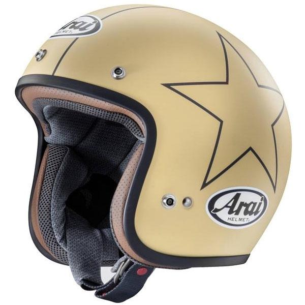 Arai 〔WEB価格〕CLASSIC MOD STARS CAMEL【クラシック・モッド/スターズ キャメル】 ジェットヘルメット
