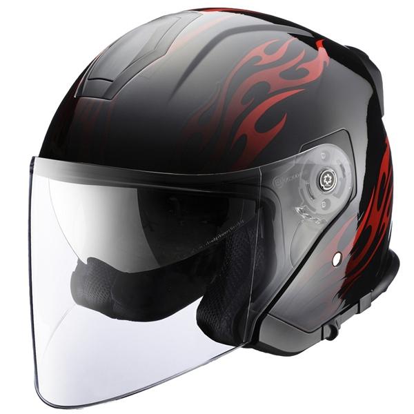 RIDEZ 【WEB限定】HPジェットヘルメット Tフレイム インナーバイザー装備