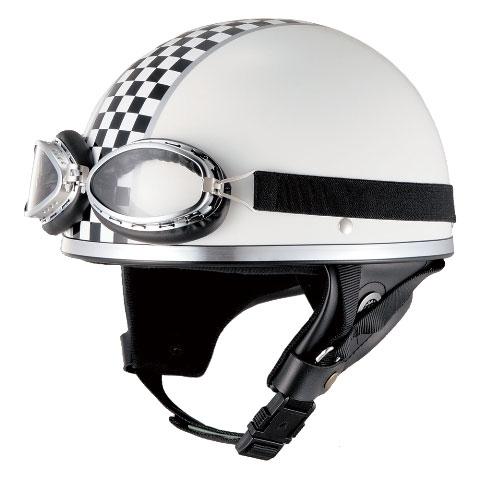 山城 【WEB限定】売り尽くし★ビンテージチェッカー XV-001 ヘルメット フリーサイズ