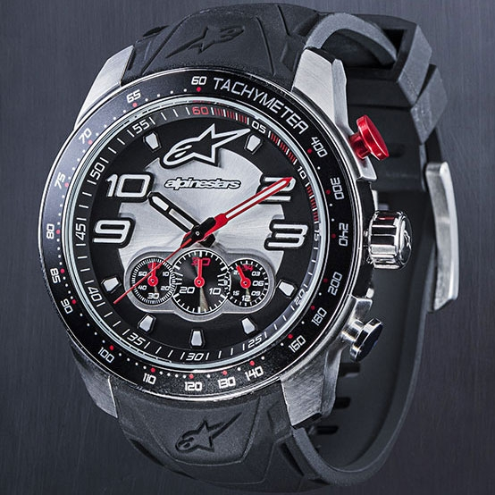 alpinestars TECH WATCH CHRONO STEEL SILICON STRAP