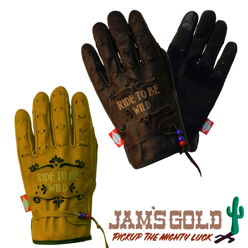ORION ACE 【WEB限定】JAMS GOLD レザーグローブ 『TIAGO』