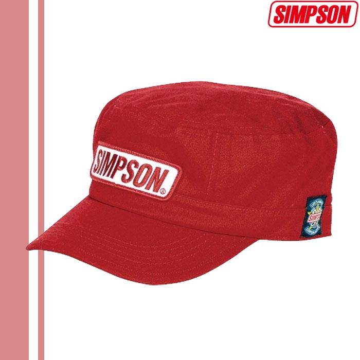 SIMPSON 【WEB限定】売り尽くし★ワークキャップ レッド SC-027 4562446491683 フリーサイズ
