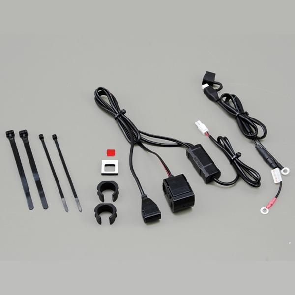 DAYTONA バイク専用電源 USB 1ポート + シガーソケット 1ポート