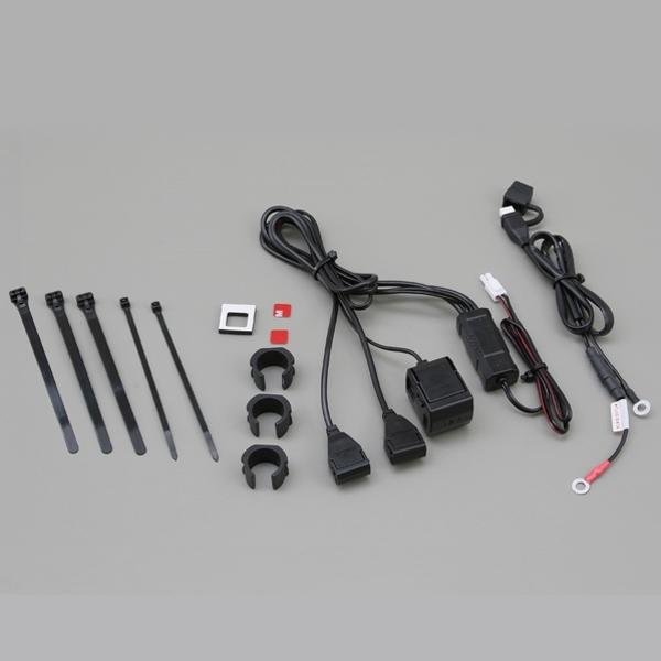 DAYTONA バイク専用電源 USB 2ポート + シガーソケット 1ポート
